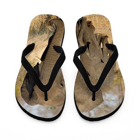 Elephants in a row Flip Flops