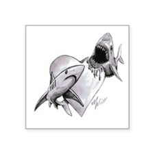 "LOVE SHARK Square Sticker 3"" x 3"""