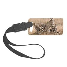 Cheetah and cubs5 -large Luggage Tag