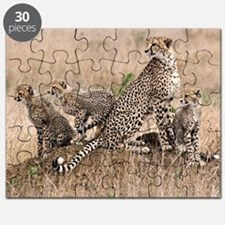 Cheetah and cubs5 -large Puzzle