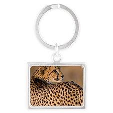 Cheetah4-large Landscape Keychain