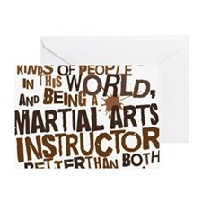 martial_arts_instructor_brown Greeting Card
