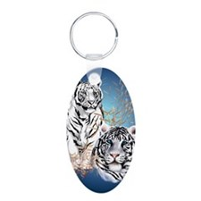 NookSleeve Two White Tigers Keychains