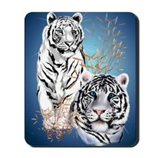 NookSleeve Two White Tigers Mousepad