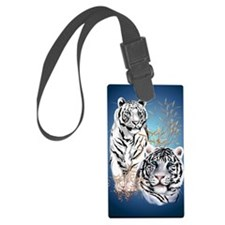 NookSleeve Two White Tigers Luggage Tag