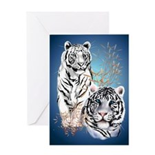 NookSleeve Two White Tigers Greeting Card