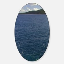 St. Thomas. View from the rocky sho Sticker (Oval)