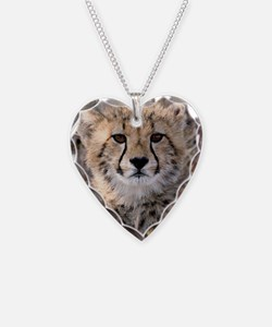 Cheetah Cub4-1large Necklace