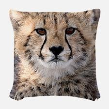 Cheetah Cub4-1large Woven Throw Pillow