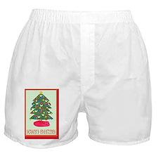 Seasons Greetings Christmas Tree Gree Boxer Shorts