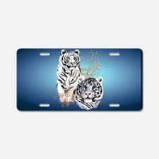 2a-ClutchBag1 Two White Tig Aluminum License Plate