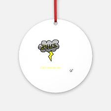 Zeus tee Round Ornament