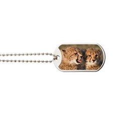 Cheetah cubs2 large Dog Tags