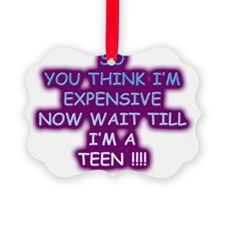 EXPENSIVE TEEN Ornament