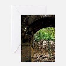 Lucia, French Mill ruins at Anse Mam Greeting Card