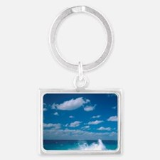 Waves in the Grand Cayman Islan Landscape Keychain