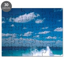 Waves in the Grand Cayman Islands. Puzzle