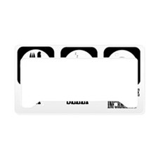eat sleep info License Plate Holder