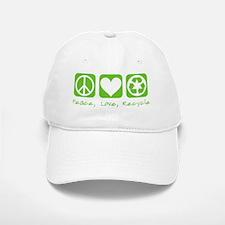 peace love recycle dark tees Baseball Baseball Cap