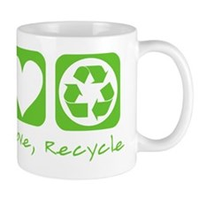 peace love recycle dark tees Mug