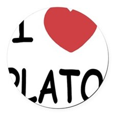 PLATO Round Car Magnet