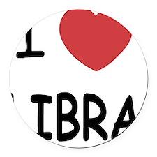 LIBRA Round Car Magnet