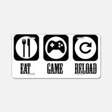 Eat Game Reload Aluminum License Plate