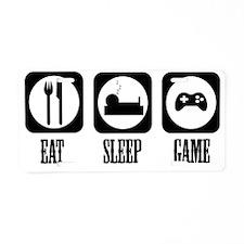 eat sleep Game Aluminum License Plate