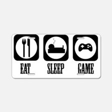 eat sleep Game Aluminum License Plate
