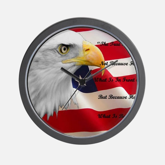 americanflag Wall Clock
