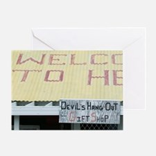 CAYMAN ISLANDS, GRAND CAYMAN, Hell:  Greeting Card