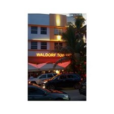 Waldorf Towers Rectangle Magnet