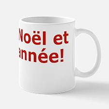 French, Merry Christmas Greeting Card V Mug
