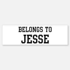 Belongs to Jesse Bumper Bumper Bumper Sticker