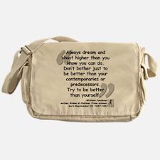 Faulkner Better Quote Messenger Bag