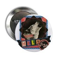 "Endangered-gray-wolf-2 2.25"" Button"