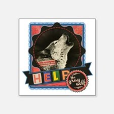 """Endangered-gray-wolf-2 Square Sticker 3"""" x 3"""""""