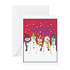 snowmen x5 ipad Greeting Card