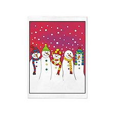 snowmen x5 ipad 5'x7'Area Rug