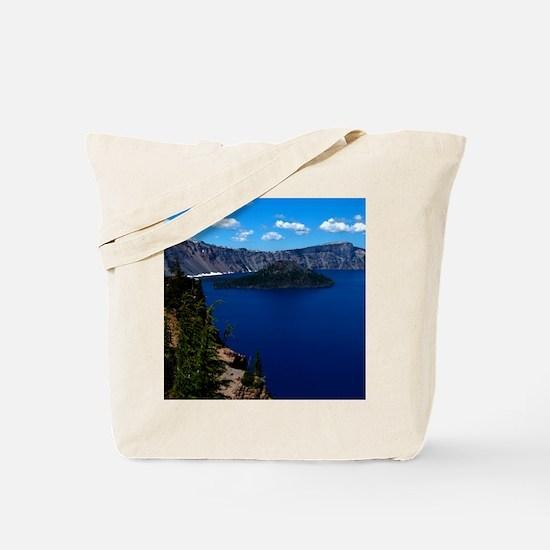 (15) Crater Lake  Wizard Island Tote Bag