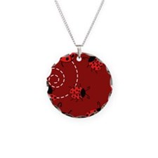 Cute Red Ladybugs Necklace