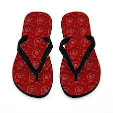 Cute Red Ladybugs Flip Flops