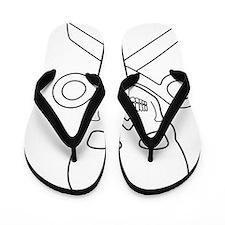 Skull-scissors Flip Flops