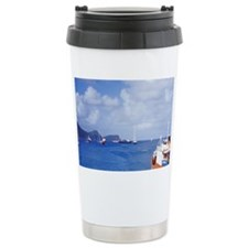 Bequia. Harbor and local ferryc Travel Mug