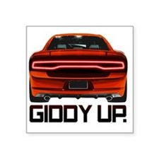 """Charger GiddyUp Square Sticker 3"""" x 3"""""""