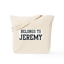 Belongs to Jeremy Tote Bag