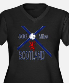 Scotland 500 Women's Plus Size Dark V-Neck T-Shirt