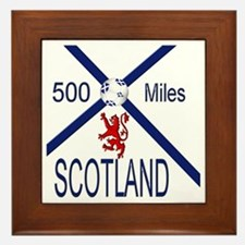 Scotland 500 miles Framed Tile
