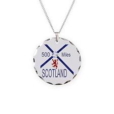 Scotland 500 miles Necklace Circle Charm