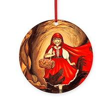 RedRidingHood2 Round Ornament